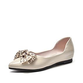voordelige Damesschoenen met platte hak-Dames PU Lente & Herfst Informeel Platte schoenen Platte hak Gepuntte Teen Dierenprint Zwart / Beige