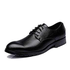 baratos Oxfords Masculinos-Homens Sapatos formais Sintéticos Primavera / Outono & inverno Oxfords Preto / Camel / Marron / Sapatos Confortáveis