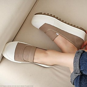 voordelige Damesinstappers & loafers-Dames Loafers & Slip-Ons Creepers Canvas Lente Zwart / Wit / Blauw