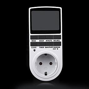 voordelige Super Korting-elektronische digitale tijdschakelklok 24 uur cyclisch eu stekker kookwekker af en toe programmeerbaar timing stopcontact 220v