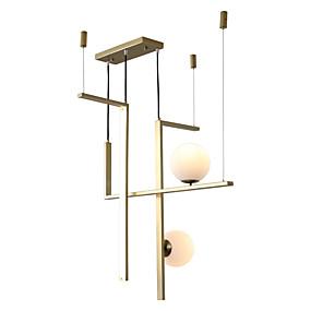 billige Hengelamper-ZHISHU 3-Light geometriske / Industriell / Originale Anheng Lys Nedlys galvanisert Metall Glass Nytt Design 110-120V / 220-240V Hvit / Dimbar med fjernkontroll / Wi-Fi Smart