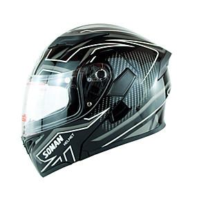 abordables Nouvelles arrivées en août-soman marque double visières moto casque visage intégral moto casque barre flip up rue casque de motocross sm955