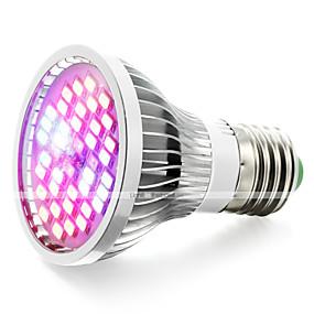 abordables Lampe de croissance LED-1pc 6.5 W 800-1200 lm 40 Perles LED Spectre complet Luminaire croissant Rouge Bleu UV (Lumière Noire) 85-265 V Serre de légumes