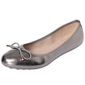 voordelige Damesschoenen met platte hak-Dames Platte schoenen Platte hak PU / Elastische stof Herfst / Lente zomer Zwart / Amandel / Goud