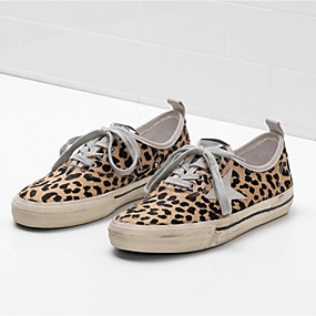 voordelige Damessneakers-Dames Sneakers Platte hak Canvas Lente & Herfst Luipaard