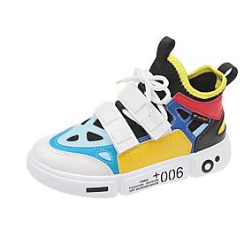 voordelige Damessneakers-Dames Sneakers Lage hak PU / Tissage Volant Herfst / Lente zomer Geel / Rood / Roze