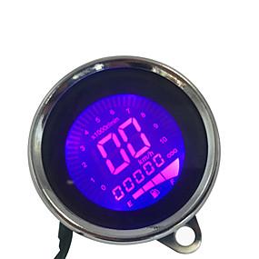 abordables Nouvelles arrivées en août-7 couleurs lcd 12v moto universelle compteur de vitesse compteur kilométrique jauge compteur de carburant
