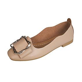 voordelige Damesschoenen met platte hak-Dames Platte schoenen Platte hak PU Lente & Herfst Lichtbruin / Licht Groen / Beige
