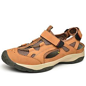 baratos Sandálias Masculinas-Homens Sapatos Confortáveis Com Transparência Primavera / Verão Casual Sandálias Água Não escorregar Preto / Marron / Khaki / Ao ar livre