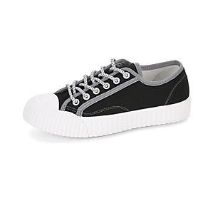 voordelige Damessneakers-Dames Sneakers Platte hak Gesloten teen PU Lente & Herfst / Lente zomer Wit / Zwart / Geel