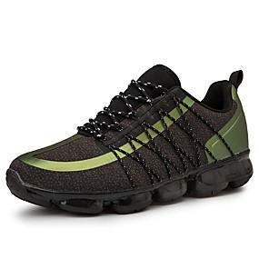 baratos Sapatos Esportivos Masculinos-Homens Sapatos Confortáveis Lona / Couro Envernizado Primavera Verão Esportivo Tênis Corrida / Caminhada Respirável Cinzento / Preto / verde / Azul Real