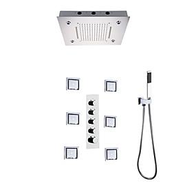 povoljno Slavine-Slavina za tuš - Suvremena Chrome / Slikano završi Zidne slavine Keramičke ventila Bath Shower Mixer Taps