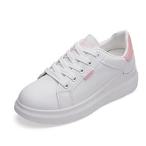 voordelige Damessneakers-Dames Sneakers Platte hak Ronde Teen PU Zomer Blauw / Roze