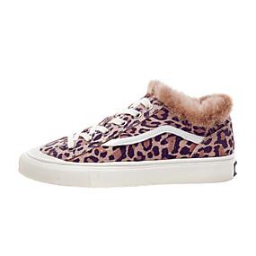 voordelige Damessneakers-Dames Sneakers Comfort schoenen Platte hak Suède Herfst Zwart / Luipaard