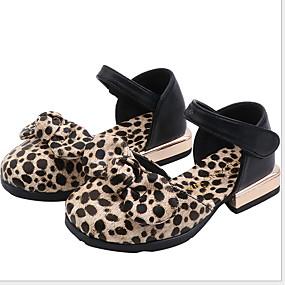 voordelige Damesschoenen met platte hak-Dames Platte schoenen Platte hak Ronde Teen PU Lente & Herfst Wit / Bruin / Luipaard