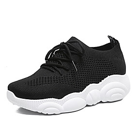 baratos Sapatos Esportivos Femininos-Mulheres Tênis Salto Baixo Sintéticos Primavera & Outono / Primavera Branco / Preto / Rosa claro