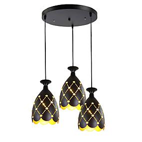 abordables Plafonniers-3 lumières Grappe / Cône / Géométrique Lampe suspendue Lumière d'ambiance Finitions Peintes Métal Cristal, Créatif, Ajustable 110-120V / 220-240V