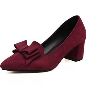 voordelige Damesschoenen met platte hak-Dames Platte schoenen Blok hiel Gepuntte Teen PU Lente & Herfst Zwart / Rood / Blauw