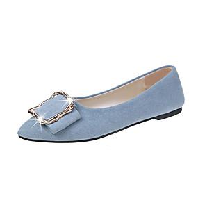 voordelige Damesinstappers & loafers-Dames Loafers & Slip-Ons Comfort schoenen Platte hak Gesloten teen PU Zoet Lente & Herfst Beige / Blauw / Roze