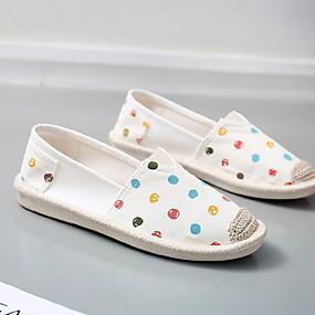 voordelige Damesinstappers & loafers-Dames Loafers & Slip-Ons Platte hak Ronde Teen Canvas Zomer Zwart / Blauw / Beige
