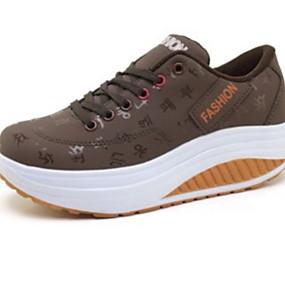 voordelige Damessneakers-Dames Sneakers Creepers Ronde Teen PU Informeel Zomer Zwart / Rood / Blauw