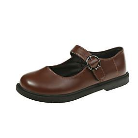 voordelige Damesschoenen met platte hak-Dames Platte schoenen Platte hak PU Lente & Herfst Zwart / Bruin