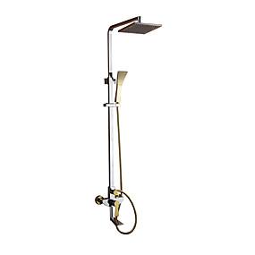 povoljno Slavine-Slavina za tuš - Suvremena Chrome / Ti-PVD Zidne slavine Keramičke ventila Bath Shower Mixer Taps