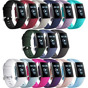 povoljno Smartwatch bendovi-Pogledajte Band za Fitbit Charge 3 Fitbit Moderna kopča Silikon Traka za ruku