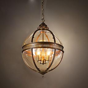 billige Hengelamper-ecolight ™ 1 stk klode pendellamp ambient light messing svart malingslampe for spisestue gang 110-120v / 220-240v pære ikke inkludert