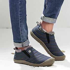 voordelige Damesinstappers & loafers-Dames Loafers & Slip-Ons Platte hak Ronde Teen Suède Kuitlaarzen Winter Zwart / Donkerblauw / Dagelijks