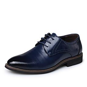 baratos Oxfords Masculinos-Homens Sapatos formais Pele Primavera / Verão Oxfords Respirável Preto / Amarelo / Azul