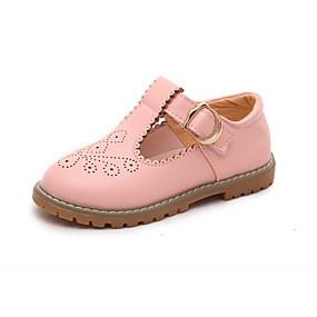 baratos Kids' Oxfords-Para Meninas Microfibra Oxfords Criança (9m-4ys) / Little Kids (4-7 anos) Sapatos para Daminhas de Honra Presilha Preto / Rosa claro / Bege Verão