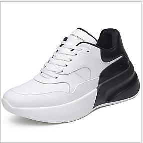 baratos Sapatos Esportivos Masculinos-Homens Sapatos Confortáveis Couro Envernizado Verão Casual Tênis Respirável Estampa Colorida Preto / Branco e Preto / Branco