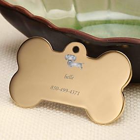 hesapli Kazınmış Evcil Hayvan Aksesuarları-Kişiselleştirilmiş Özelleştirilmiş Dachshund Evcil Hayvan Etiketleri Klasik Hediye Günlük 1pcs Altın Gümüş Gül Altın