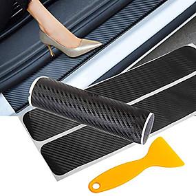 abordables 70%OFF-autocollant de porte de voiture en fibre de carbone seuil de porte de voiture autocollant sans trace anti éraflure seuil protection auto accessoires
