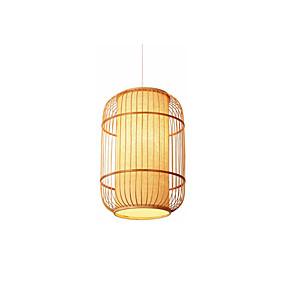 abordables Plafonniers-Lanterne Lampe suspendue Lumière d'ambiance Bois Bois / Bambou Bois / Bambou 110-120V / 220-240V