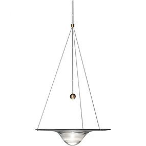 abordables Plafonniers-Cercle Anneau Lampe suspendue Lumière d'ambiance Finitions Peintes Métal Verre 110-120V / 220-240V Blanc Crème