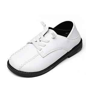 povoljno Kids' Oxfords-Dječaci PU Oksfordice Mala djeca (4-7s) Udobne cipele Crn / Obala / Kava Ljeto