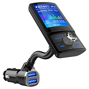 billige Nyankomne i august-bc43 bluetooth fm sender lcd handsfree bilsett mp3-spiller qc3.0 usb lader bil tilbehør auto fm modulator