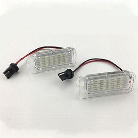 abordables 70%OFF-2pcs / set 12v led lampe de plaque d'immatriculation pour focus 5d / fiesta / mondeo mk4 / c-max mk2