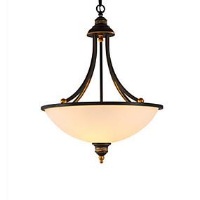 billige Hengelamper-3-Light Anheng Lys Omgivelseslys Malte Finishes Metall Glass 110-120V / 220-240V