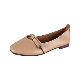 voordelige Damesschoenen met platte hak-Dames Platte schoenen Platte hak PU Lente & Herfst Lichtbruin / Beige