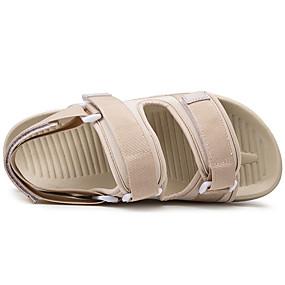 baratos Sandálias Masculinas-Homens Sapatos Confortáveis Tecido elástico Primavera Verão Casual Sandálias Respirável Preto / Branco e Preto / Bege