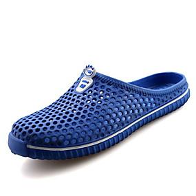 baratos Sandálias e Chinelos Masculinos-Homens Sapatos Confortáveis PVC Verão Chinelos e flip-flops Respirável Preto / Verde / Branco