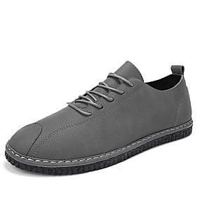 baratos Oxfords Masculinos-Homens Sapatos Confortáveis Couro Ecológico Verão Oxfords Preto / Cinzento / Khaki / Ao ar livre