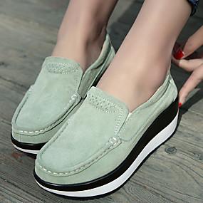 voordelige Damessneakers-Dames Sneakers Heterotypic Heel Ronde Teen PU Klassiek / minimalisme Swingschoenen Lente & Herfst Zwart / Groen / Rood