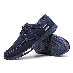 baratos Tênis Masculino-Homens Sapatos Confortáveis Lona Verão Tênis Preto / Azul / Cinzento