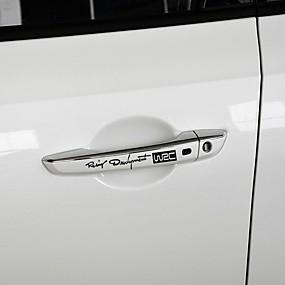 abordables Nouvelles arrivées en septembre-4pcs / ensemble décalcomanies de mode du monde développement de la voiture wrc poignées de porte de voiture vinyle autocollants de carrosserie