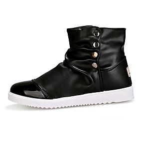 baratos Botas Masculinas-Homens Sapatos Confortáveis Couro Envernizado / Couro Ecológico Primavera / Outono Formais Botas À Prova-de-Água Botas Curtas / Ankle Preto / Branco / Marron / Fashion Boots