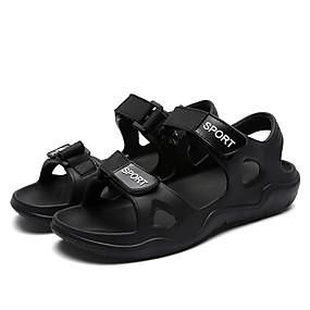 baratos Sandálias Masculinas-Homens Sapatos Confortáveis EVA Verão Clássico / Casual Sandálias Caminhada Respirável Preto / Azul / Cinzento / Ponta quadrada